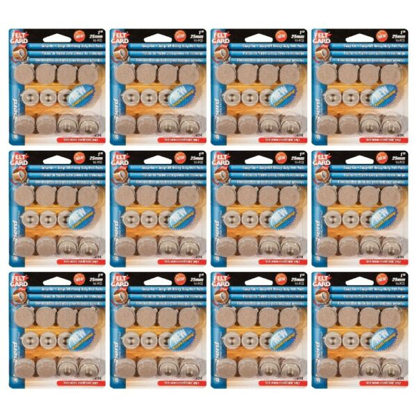 Shepherd Hardware 3634 Snap On Snap Off Furniture Protector Pads 1in 8 Ct 12 PK $44.95