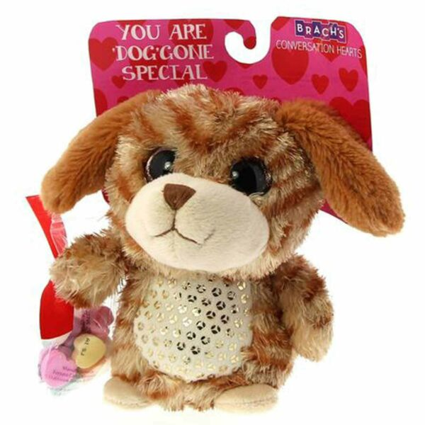 Galerie quot;You Are #x27;Dog#x27; Gone Special Brach#x27;s Conversation Hearts Brown Dog Plush $14.99
