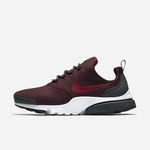 Nike Air Presto Fly SE Men's Shoes Sz 11 White Noble Red Maroon 908020-601