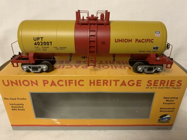 ✅MTH PREMIER UNION PACIFIC HERITAGE MODERN TANK CAR FOR O SCALE DIESEL ENGINE UP