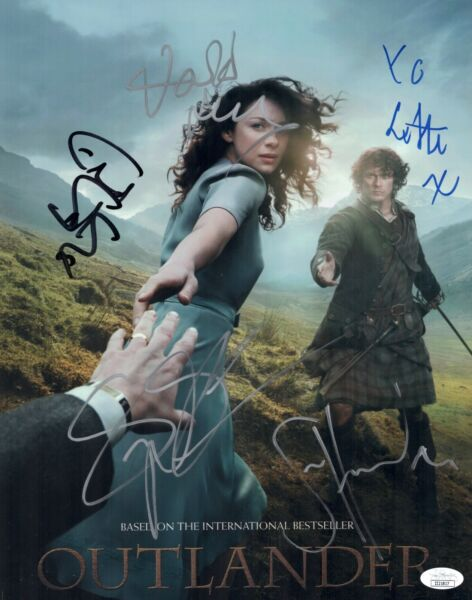 OUTLANDER Sam Heughan Cast X5 Signed 11x14 Photo Autograph JSA COA Cert