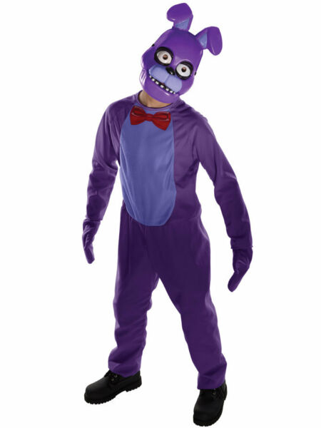 Bonnie Child Costume Five Nights At Freddy#x27;s Jumpsuit Mitts and Mask Horror