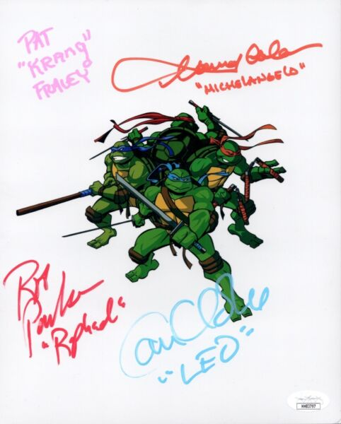 Teenage Mutant Ninja Turtles CAST X4 SIGNED 8X10 Photo Autograph JSA COA Cert