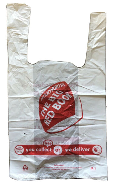 Woolworths Big Red Book Small Carrier Bag New Unused. Vintage British Retail GBP 2.50