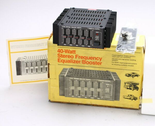 REALISTIC 40-WATT STEREO FREQUENCY EQUALIZER  BOOSTER 12-1863 for CAR
