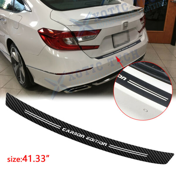 For Honda Civic Accord Carbon Fiber Film Trunk Guard Plate Decal Accessories 41