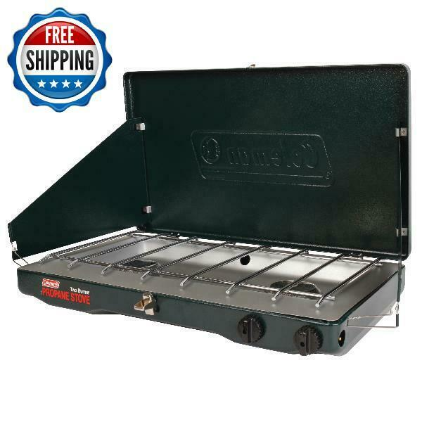 Portable Camping Propane Gas Stove Double Burner 10000 BTU Cooker Outdoor New