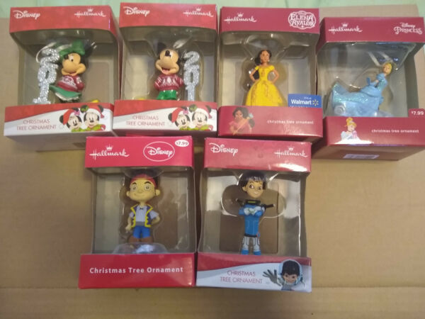 Hallmark Disney Mickey Minnie And More Ornaments Lot Of 6 New In Box