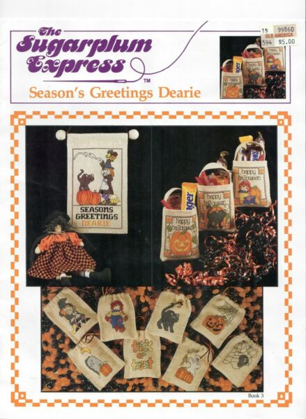 Halloween counted X stitch for goodie bags by Leisure Arts