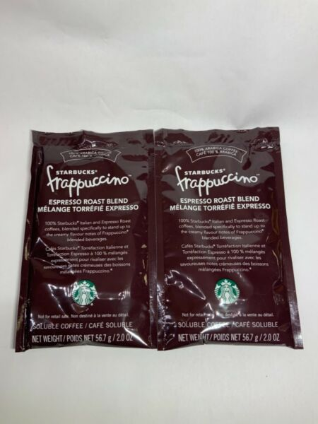 2X STARBUCKS FRAPPUCCINO ROAST COFFEE FOR BLENDED BEVERAGES EXP DEC 2021