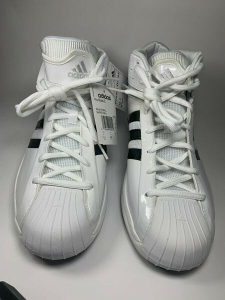 Adidas Pro Model S Basketball Shoes (467865) White with Black Stripes