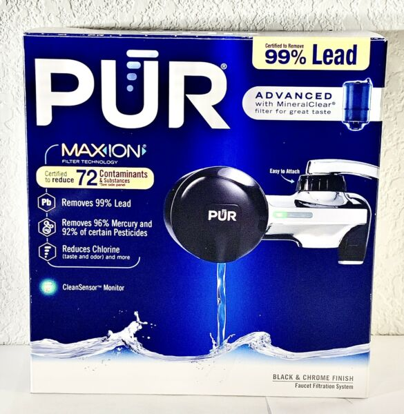 PUR Advanced Faucet Water Filter PFM200V Black and chrome