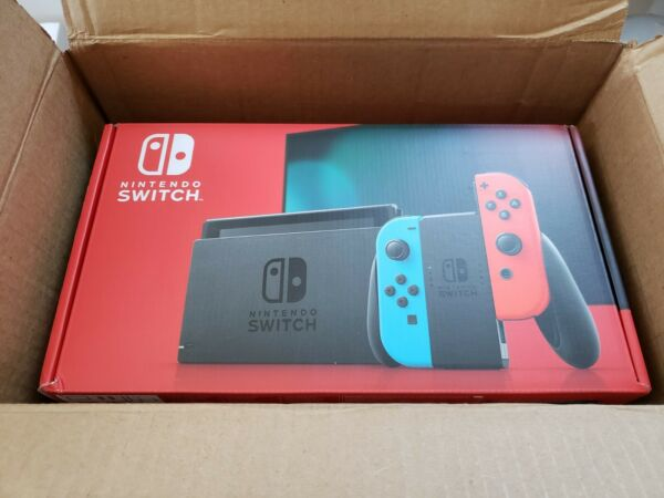 Nintendo Switch with Neon Blue and Neon Red Joy‑Con (Newest Model) (In Hand)