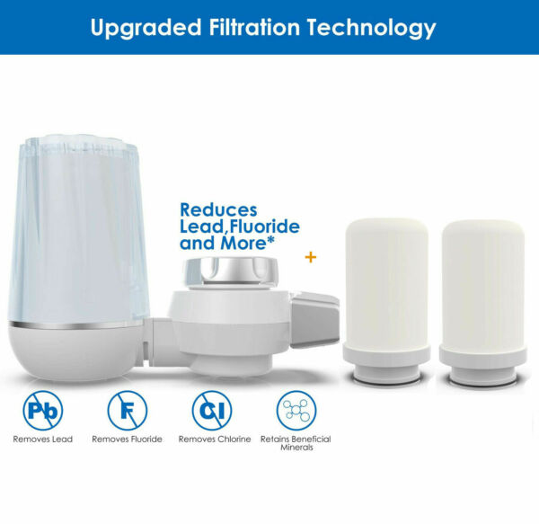 Faucet Water Filter For Kitchen Sink Or Bathroom Mount Filtration Tap Purifier $9.95