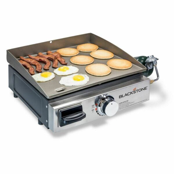 BLACKSTONE TABLE TOP GRILL 17 INCH PORTABLE GAS GRIDDLE PROPANE FUELED
