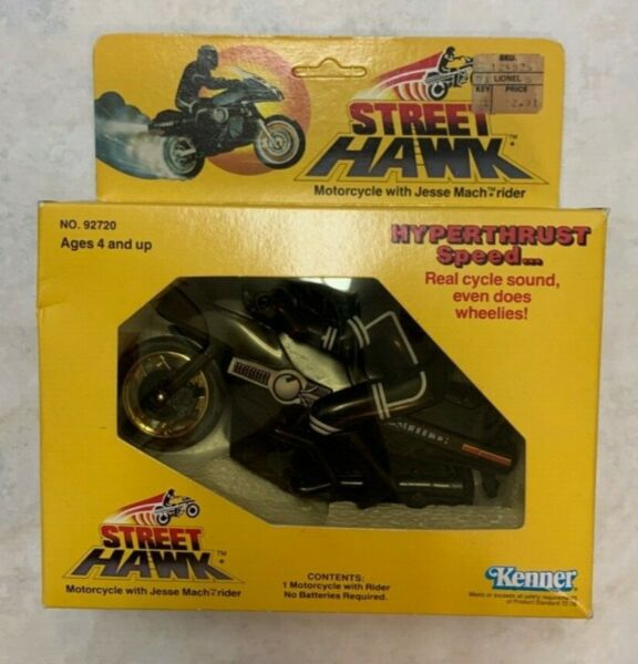 RARE Vintage Kenner Street Hawk STREETHAWK Motorcycle unpunched SEALED in box