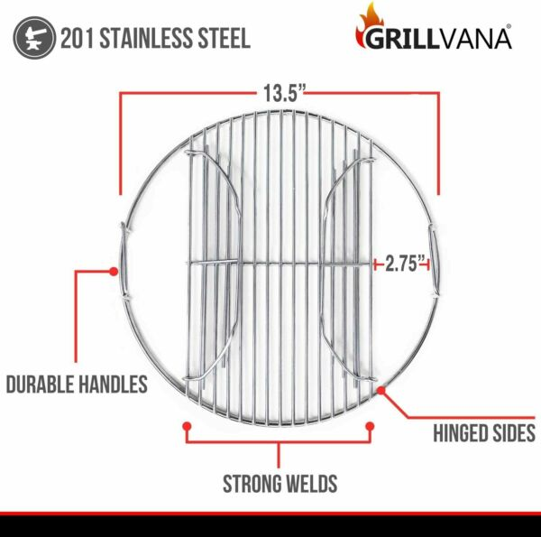 14quot; Weber Smokey Joe Charcoal Grill Cooking Replacement Grate Stainless Steel
