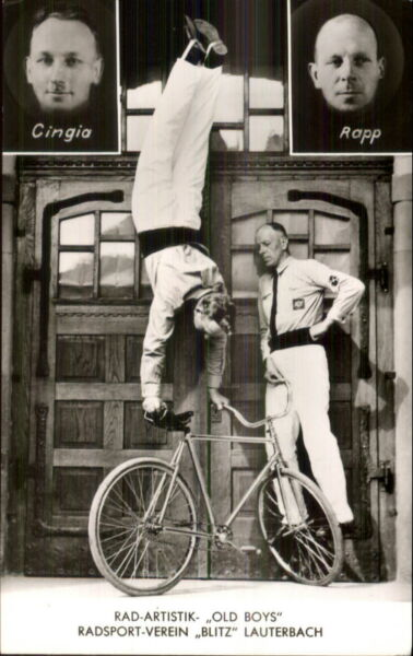 Stage Act Circus? Handstand on Bicycle Bliz Lauterbach Real Photo Postcard $19.99
