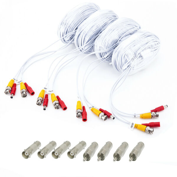 4 x 100ftroll 30m Siamese Coaxial BNC cable for 4 8 16CH CCTV DVR 200W camera