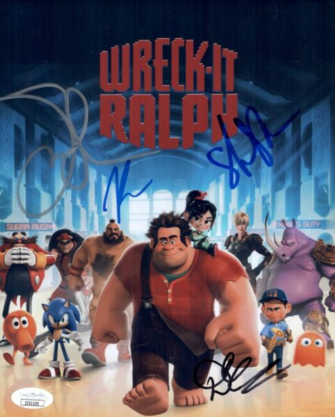 Silverman WRECK IT RALPH Cast X4 Signed 8X10 Photo Autograph JSA COA Cert