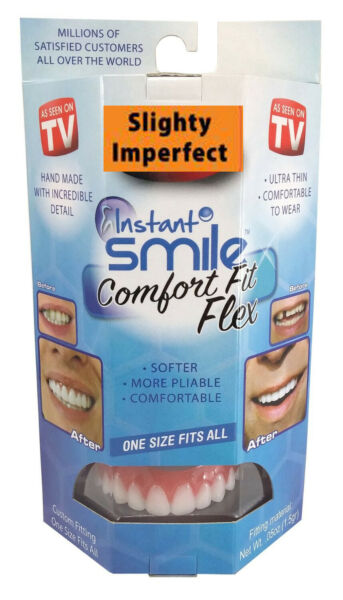 Instant Smile Comfort Fit Flex Slightly Imperfect White One Size fits Most $14.95