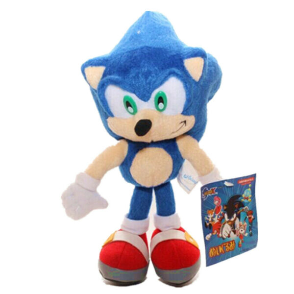 Blue Sonic Plush Doll Stuffed Animal Plushie Soft Toy Gift - 8 In