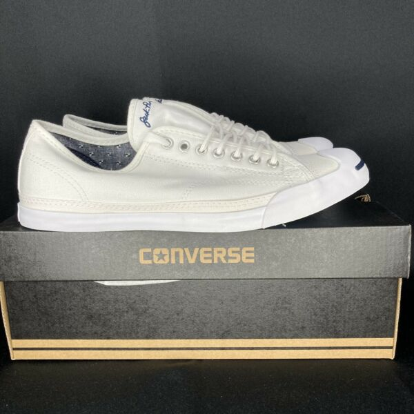 Converse Jack Purcell Classic Low Top Shoes White Men's Size 9.5