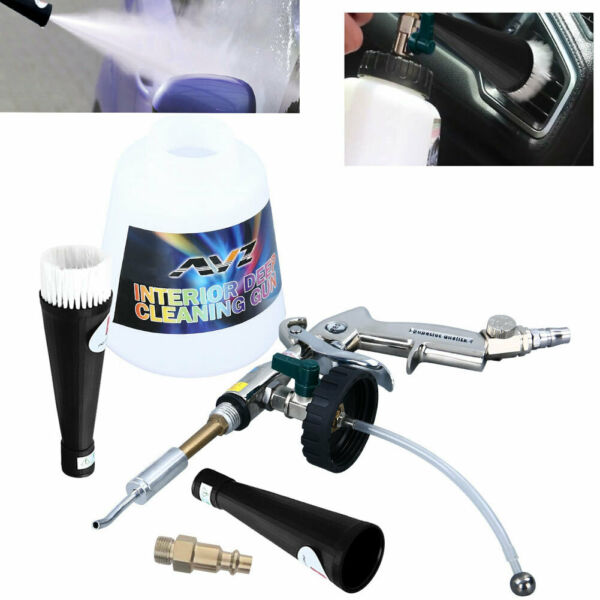 High Pressure Air Pulse Car Cleaning Gun Interior Exterior Tornado Washing Tools