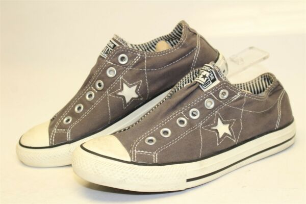 Converse One Star Women 8.5 39.5 Grey OX NEW Low Laceless Sneaker Shoes 507922FT