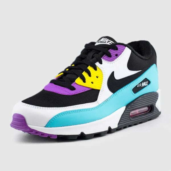 Nike Air Max 90 Essential Black/White/Violet Size 10.5 Mens Running Shoes