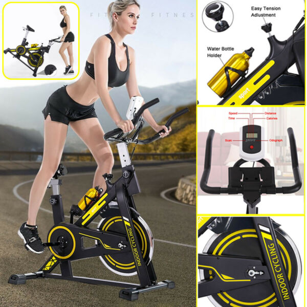 Bicycle Exercise Bike Indoor Stationary Cycling Cardio Training Workout Home US $199.99