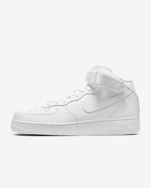 Men's Shoe Air Force 1 Mid '07 White/White 315123-111 New With Box