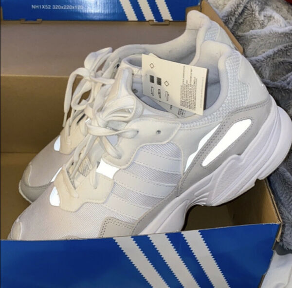 Adidas Originals Mens Yung-96 Shoes NEW White Grey EE3682 Size 9