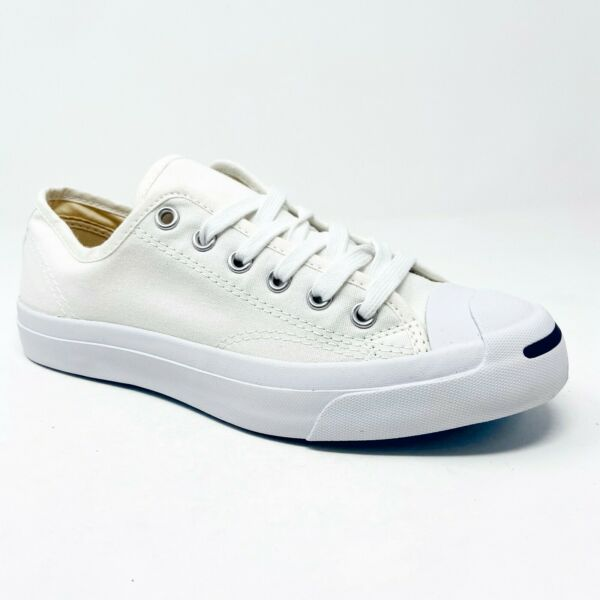 Converse Jack Purcell Ox Low White White 1Q698 Mens Casual Sneakers