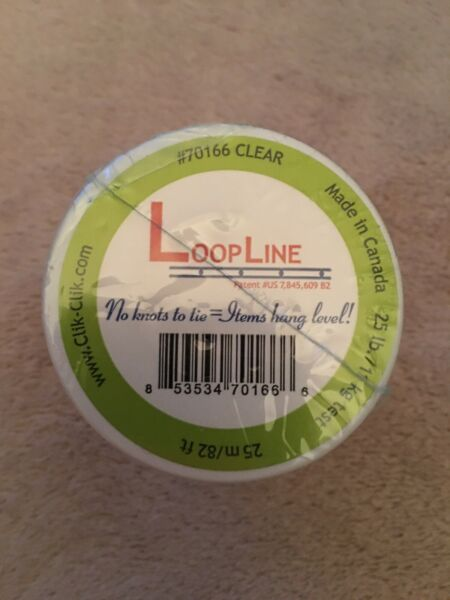 Clear LoopLine 82 Feet long for Magnetic Hanging System #70166. New. Sealed.