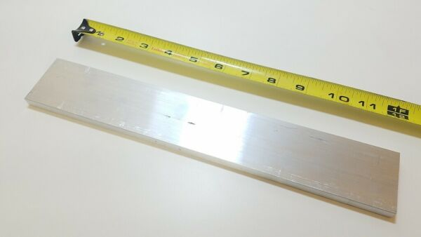 6061 Aluminum Flat Bar 1 2quot; x 2quot; x 12quot; long Solid Stock Plate Machining $16.87