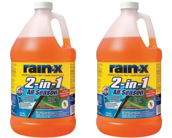 Rain X 1 Gal. 2 in 1 Windshield Washer Fluid Bug Remover 2 PACK