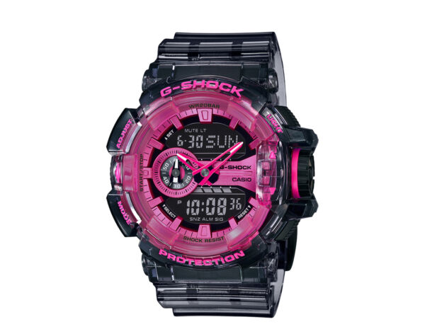 Casio G Shock A D Resin Skeleton Pink Clear Watch GA400SK 1A4