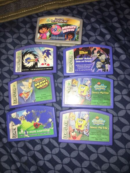 Leap Frog Leapster Explorer lot of 5 games Draw & Write Sonic x The Batman $14.95