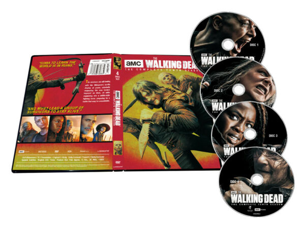 The Walking Dead Sea son 10 Complete Tenth 4 Disc Set NEW