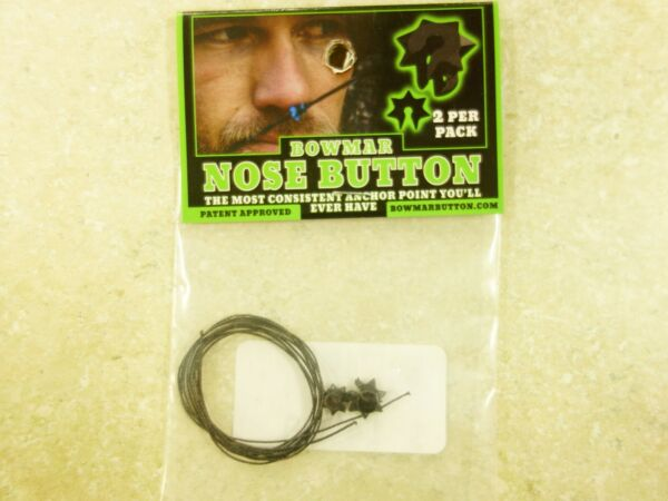 Bowmar Archery Nose Button Black 2 Pack NEW