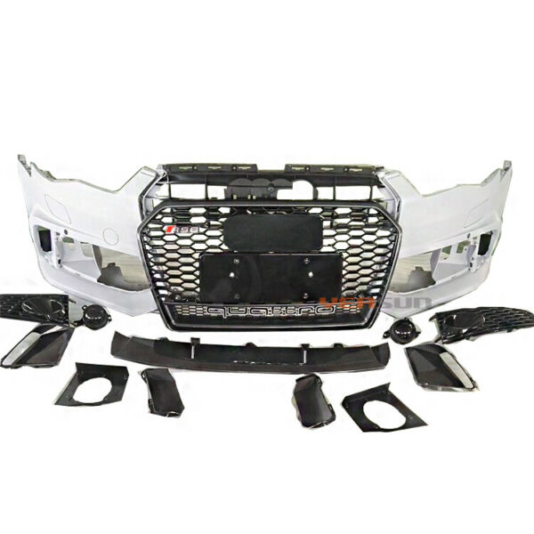 Audi A6 / S6 C7.5 RS6 Style Front Bumper kit with Quattro grill honeycomb mesh