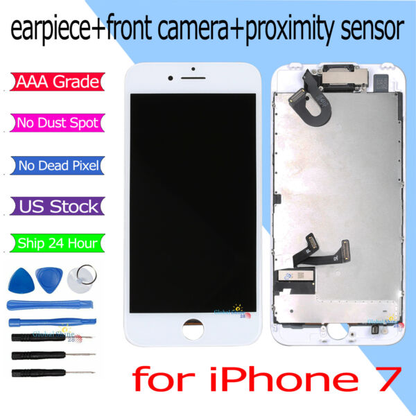 LCD For iPhone 7 Display Touch Screen Digitizer Full Replacement Camera White