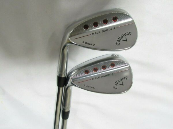 Used LH Callaway Mack Daddy 4 50* 54* Wedge Set Tour Issue S200 Stiff flex Steel