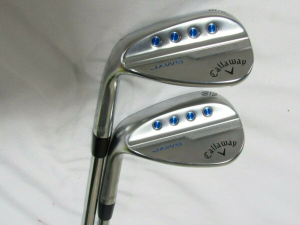 Used LH Callaway MD5 JAWS Forged 56* 60* Wedge Set Tour Issue S200 Stiff Steel