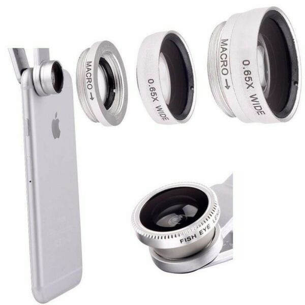 3 in 1 Fish eye Wide Angle Macro Clip On Camera Lens Zoom For iPhone 7 8 X XR XS GBP 5.99