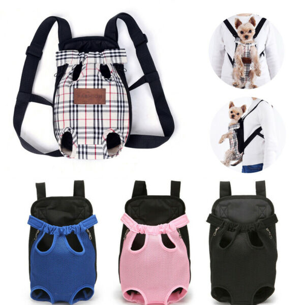 Pet Dog Backpack Carrier Puppy Pouch Cat Travel Tote Front Bag With Legs Out $9.39