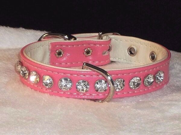 Luxury Dog Collar Crystal Jewel Rhinestone Fancy Brilliant Bling Pink 1 2quot; $18.15