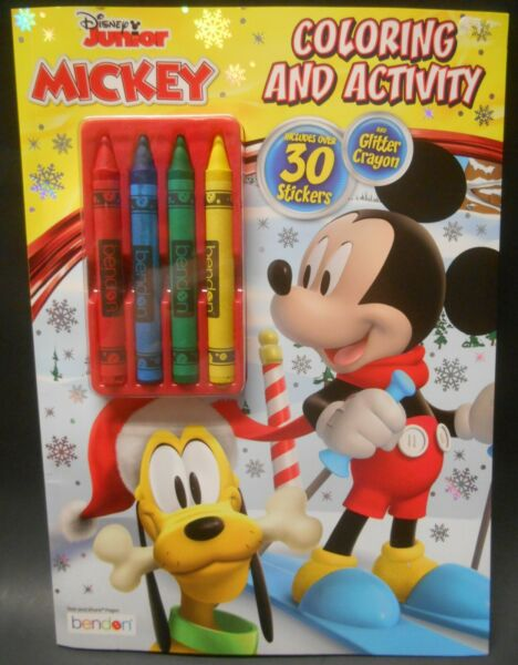 Disney Junior Mickey Mouse Christmas Coloring Activity Book Stickers Crayons