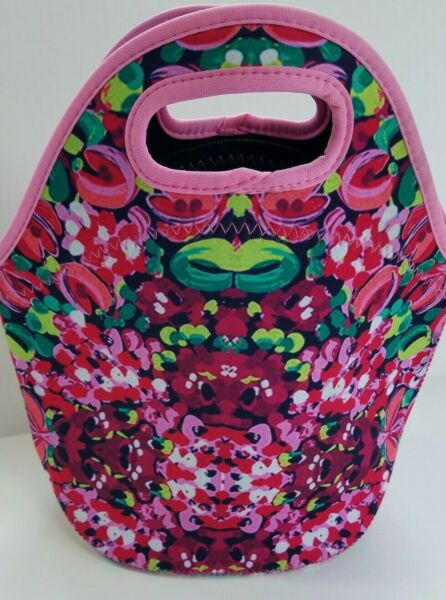 LILLY  Inspired LUNCH Bag Tote Insulated with Zipper Neoprene ~ BACK to SCHOOL